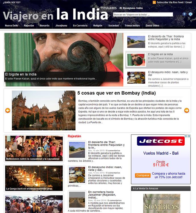 web viajero en la india javier redondo jordán